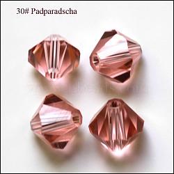 Perles d'imitation cristal autrichien, grade AAA, facette, Toupie, flamant, 6x6mm, Trou: 0.7~0.9mm(SWAR-F022-6x6mm-319)