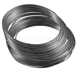 fil de mémoire en acier au carbone, colliers faisant, bronze, 11.5 cm, fils: 0.6 mm, 100 cercles / set(X-MW11.5CM-B)
