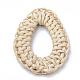 Handmade Reed Cane/Rattan Woven Linking Rings(WOVE-Q075-18)-2
