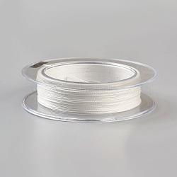 Леска плетеная, 4 оплетка, белые, 0.2 мм; 100 м / рулон, сила: 25 фунт(NWIR-WH0003-01B)