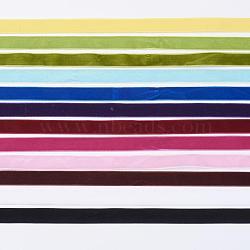 """Ruban de velours monocouleur 12 couleurs, couleur mixte, 3/8"""" (9.5 mm); environ 1m / bundle, 12 paquet / ensemble(OCOR-JP0003-9.5mm)"""