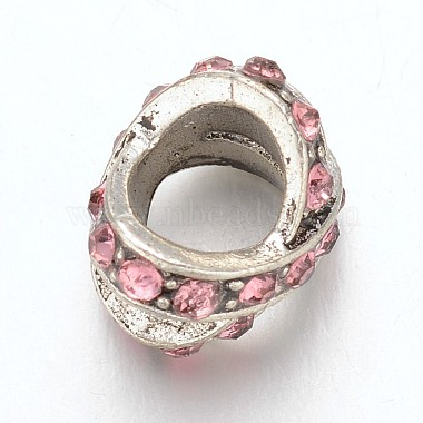 Tibetan Style Alloy Rhinestone Large Hole Beads(X-MPDL-F017-13)-2