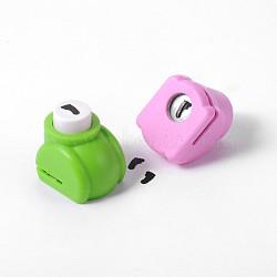 Kits de punchv de Mini embarcation en plastique pour scrapbooking et artisanat en papier, foot print, couleur aléatoire, 33x26x31mm(AJEW-F003-12A)