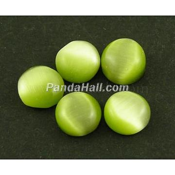25mm Olive Half Round Glass Cabochons