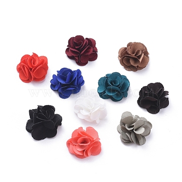 Handmade Woven Costume Accessories, Flower, Mixed Color, 20x9mm(X-WOVE-F023-D-A)