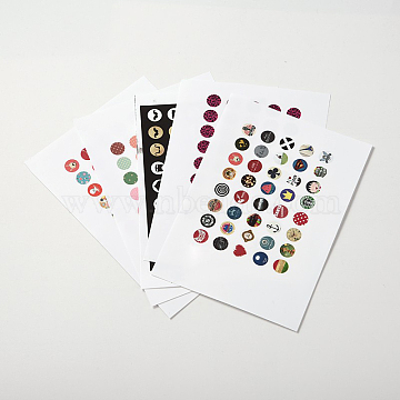 Mixed Color Round Paper Stickers