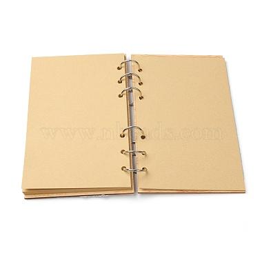 bloc-notes de livres d'or de mariage en bois(AJEW-H114-03)-3