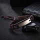 Unisex Trendy Leather Cord Bracelets(BJEW-BB15547-A)-2