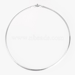 304 Stainless Steel Necklaces, with Lobster Clasps, Stainless Steel Color, 17.7