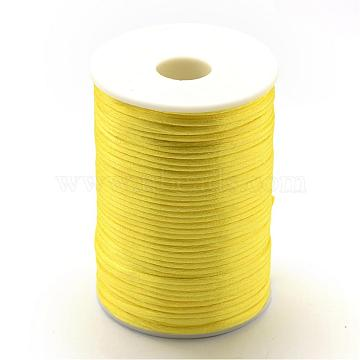 Polyester Cord, Yellow, 2mm; about 80yards/roll(73.152m/roll)(NWIR-R001-22)