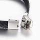 PU Leather Braided Cord Bracelets(BJEW-E324-C07)-2