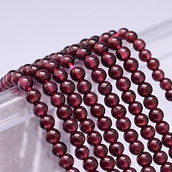 Mo Chesapeake Import Natural Grade A Garnet Round Beads Strands, 4mm, Hole: 1mm; about 95pcs/strand, 16