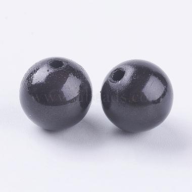 12mm Black Round Acrylic Beads