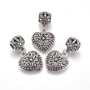 35mm Heart Alloy Dangle Beads