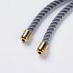 Nylon Twisted Cord Bracelet Makings(MAK-F018-07G-RS)-4