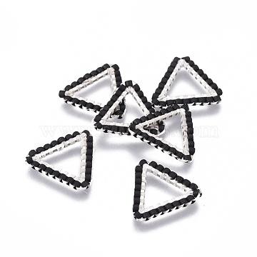 16mm Black Triangle Glass Links