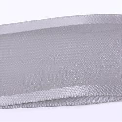 "Ruban polyester organza avec bord satin, gainsboro, 5/8"" (16 mm); environ 50yards / rouleau (45.72m / rouleau)(ORIB-Q022-16mm-02)"