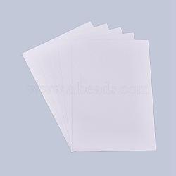 A4 film pvc transparent, papier autocollant autocollant, avec dos adhésif, pour imprimante laser, clair, 29.7x21 cm(AJEW-WH0054-03)