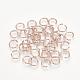 Aluminum Wire Open Jump Rings(X-ALUM-R005-0.8x6-04)-1