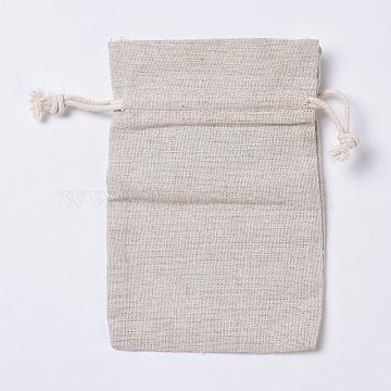 Burlap Pouches, Wheat, 150x98mm(X-ABAG-E001-02)