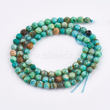 4mm LightGreen Round Natural Turquoise Beads