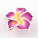 Handmade Polymer Clay 3D Flower Plumeria Beads(CLAY-Q192-30mm-07)-1