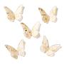 Antique White Butterfly Resin Cabochons(RESI-I035-01F)