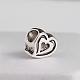 Tibetan Style Heart Zinc Alloy European Bead Rhinestone Settings(MPDL-M050-08AS)-1