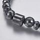 Non-magnetic Synthetic Hematite Mala Beads Necklaces(NJEW-K096-11C)-2