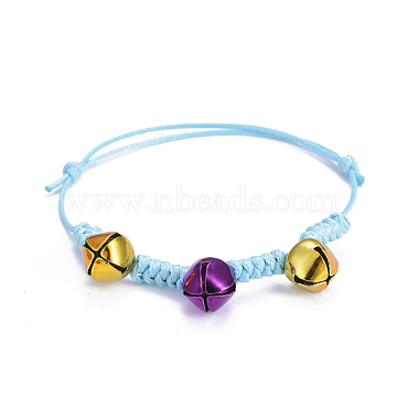 DeepSkyBlue Waxed Cord Bracelets