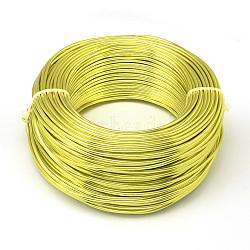 Fil d'aluminium, greenyellow, Jauge 20, 0.8 mm; 300 m / 500 g(AW-S001-0.8mm-07)