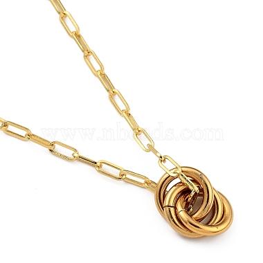 Love Knot Pendant Necklaces(NJEW-JN03007)-1
