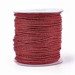 Cordon de polyester, cramoisi, 2 mm; 100 yards / rouleau (300 pieds / rouleau)(OCOR-E017-01A-02)