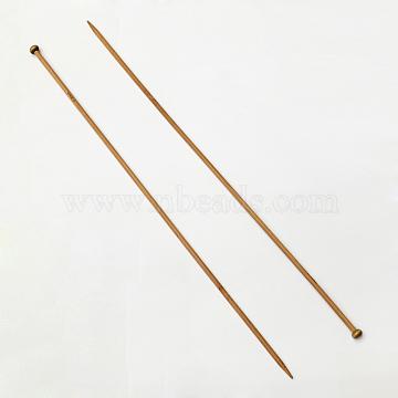 Bamboo Single Pointed Knitting Needles, Peru, 400x12x5mm; 2pcs/bag(TOOL-R054-5.0mm)