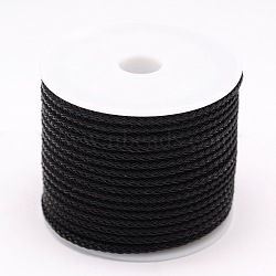 Câble de fil d'acier tressé, bricolage bijoux matériau de fabrication, noir, 3 mm; 6 m / rouleau(OCOR-E009-3mm-02)