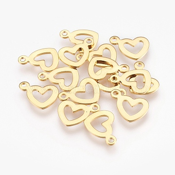 Golden Heart Stainless Steel Charms