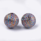 Polyester Thread Fabric Covered Beads(X-WOVE-T009-16mm-02)-2