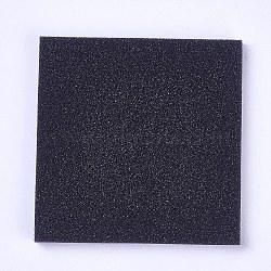 Sponge Pad, for Glass Cabochons Display, Black, 68~70x68~70x5mm(X-AJEW-WH0098-18)