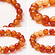 SUNNYCLUE&reg Natural Red Agate Round Beads Stretch Bracelets(BJEW-PH0001-10mm-16)-4