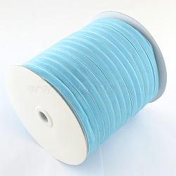 """3/8"""" Ruban de velours de simple face, Bleu ciel, 3/8"""" (9.5 mm); environ 200yards / rouleau (182.88m / rouleau)(OCOR-R019-9.5mm-171)"""