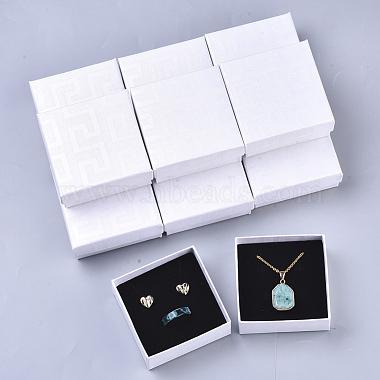 White Square Paper Jewelry Box
