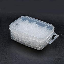 1 boîte 5mm perles hama PE de bricolage recharges pour enfants, Tube, clair, 5x5mm, trou: 3 mm; environ 500 / boîte(DIY-X0047-A44-B)