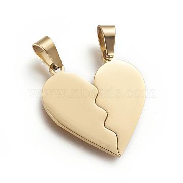 Golden Heart Stainless Steel Pendants