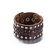 Unisex Fashion Leather Cord Bracelets(BJEW-BB15600-A)-1