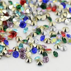 Strass en résine à pointe pointue de grade AAA, forme de diamant, couleur mixte, 5 mm; environ 2880 PCs / sac(RESI-R120-5.0mm-M)