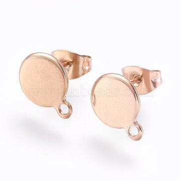 Rose Gold Stainless Steel Stud Earrings