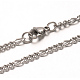 304 Stainless Steel Figaro Chains Necklaces(NJEW-G310-02P)-1