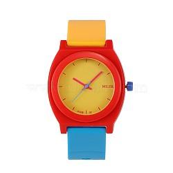 Trendy montres à quartz de haute qualité, orange rouge , 240x20 mm; tête de montre: 48x43x12 mm(WACH-N018-02)