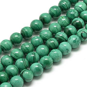 8mm Round Malachite Beads