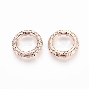 Rose Gold Ring Stainless Steel Clasps